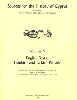Sources for the History of Cyprus_volume V