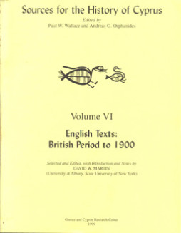 Sources for the History of Cyprus_volume VI
