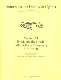 Sources for the History of Cyprus_volume XI