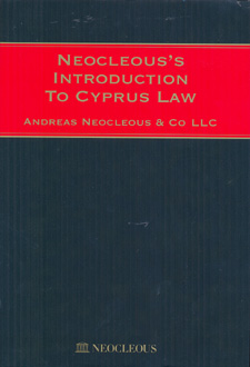NEOCLEOUS'S INTRODUCTION TO CYPRUS LAW