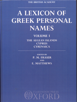 a lexicon of greek personal names